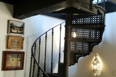 Antique spiral stairs to attic