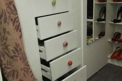 Chest of drawers built in to attic space