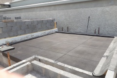 BALCONY ROOF  with 1 m x 1 m x 15 mm rubber tiles